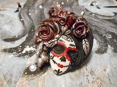 Life & Death (LynzCraftz) Tags: polymerclay pendant resin art acrylicpaint oneofakind handmade