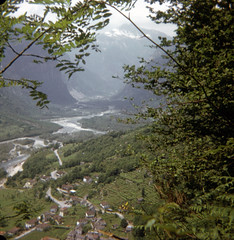 img165 (foundin_a_attic) Tags: switzerland july 1975 swiss view mountians houses fields vines trees mountain