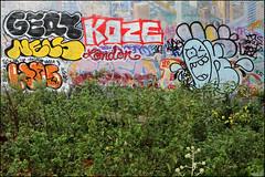 Gert, Koze, Nels, Cosa, Oker... (Alex Ellison) Tags: gert nels koze cosa oker gsd brixton southlondon urban graffiti graff boobs throwup throwie