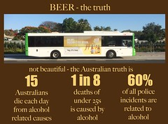 booze bus (Leonard J Matthews) Tags: beer alcohol truth notbeautiful shame hornbookbuslines deaths police criminaljustice australia redcliffe queensland mythoto 1in8 15 eachday
