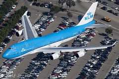PH-BFT Boeing 747-400 KLM Los Angeles airport KLAX 08.11-16 (rjonsen) Tags: plane airplane aircraft approach air aerial photo shot arrival