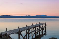 3320 (Maurizio 61) Tags: panorama canon5dmarkii canonef24105lf4 tramonto lago pontile bolsena