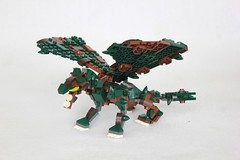 Skogrbani (soccersnyderi) Tags: lego moc dragon beast wings tail creature brick built model creation forest