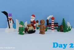 My old toys (Alex THELEGOFAN) Tags: lego legography minifigures minifigure minifig minifigs minifigurine minifigurines christmas santa claus dwarf elf gingerbread man forest tree candy can house snowman ice cold white cream sled broom train smoke red noise wood toy toys