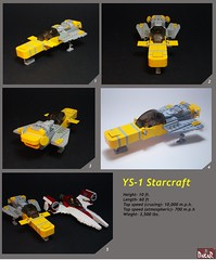 YS-1 Main (Dakar A) Tags: yellow lego space spaceship presentation greeble ys1