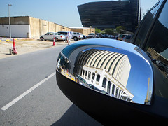 Convex Reflection (Kombizz) Tags: street reflection building cars car architecture mirror cityscape middleeast convex vehicle trafficcones doha qatar persiangulf 4354 khalijfars convexreflection kombizz frontmirror khaleejfars