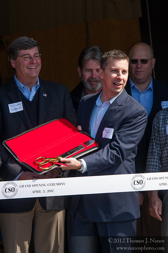 "The scissors<br /><span style=""font-size:0.8em;"">CSOR General Manager James Bonner presents the ceremonial scissors for the ribbon cutting.</span> • <a style=""font-size:0.8em;"" href=""http://www.flickr.com/photos/20365595@N04/7050762551/"" target=""_blank"">View on Flickr</a>"