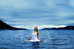 Power Of The Mind 23/52 (Sophia Alexis) Tags: blue sea portrait water girl norway self canon eos 7d splash