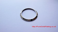 Silver Plated Rolex Bezel (PureGoldPlating) Tags: rolex silverplating watchrestoration silverwatchbezel