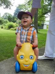 happy riding Olly