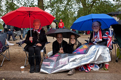 Let's forget about Charles and Camilla (Gary Kinsman) Tags: london umbrella weird candid flag streetphotography streetlife creepy celebration masks irony fans patriotism unionjack unionflag 2012 themall sw1 unsettling royalfamily jubliee diamondjubilee canon28mmf18 canoneos5dmarkii canon5dmkii royalmasks