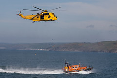 New Quay Wales Lifeboat--2.jpg (llaisymor) Tags: wales newquay helicopter lifeboat ceredigion sar raf seaking rnli