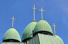 four crosses (mcfcrandall) Tags: toronto church ukrainian broadview greenroof goldcross torontophotowalks topwdg