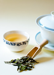 White Tea (Camomelle) Tags: white cup brewing tea chinese brew porcelain loose gaiwan