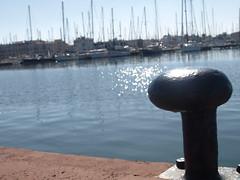 Muelle (warg0) Tags: auto sun tower beach landscape puerto harbor muelle boat spain barco yacht andalucia almera almerimar velero caravana