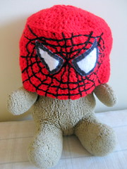 ...also handy for dressing up teddy (sewumm) Tags: crochet spiderman dressinguptoys