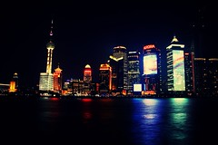 Shanghai @ Night (jasonlsraia) Tags: china shanghai pudong 2013 orientalpearlytower