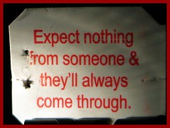 Expect Nothing... (Heartlover1717) Tags: red white black color indoors cardstock saladatea pithysaying teabagtag saladataglines minibinderclip