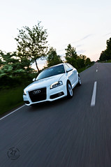Audi A3 #11 (Twenty-Seven Photography) Tags: sunset sun white photography spring cool shots seven rig damn dslr audi 27 sonne twenty damncool sline weis car2car
