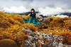 guardian of the old heros [39] (laura zalenga) Tags: old sky woman cloud mountain nature girl grass fog stone friend dragon skirt hidden tired guardian ©laurazalenga