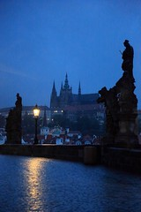Silent Tuesday~ Czech Prague , Morning  of    Karlv most  ( ) ~ (PS~~) Tags: road street travel bridge light sunset shadow sky tower castle church stone night clouds port canon river pier boat europe day ship nocturnal czech prague cloudy yacht hill prag praha stonecarving tschechien most czechrepublic bluehour charlesbridge philipp graysky vltava pleasure oldcity hradcany riverview riparian ceskarepublika karluvmost karluv blauestunde moldau malastrana karlv klinger   ceska landscapephotography colortemperature  kleinseite  karlsbrucke   dcdead goldenpraha openchat