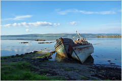 Fishing boats at Salen (hehaden) Tags: rotting island scotland boat wooden fishing bluesky isleofmull wreck mull decaying salen