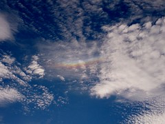 Circumhorizontal arc (Caeium_Tempestas) Tags: blue summer england sky sun white ice sunshine weather clouds high rainbow crystals angle n angles july parhelion latitude meteorology cirrus phenomenon troposphere 50degreesnorth flickrandroidapp:filter=none