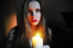 Self Portrait 13 (Hollie Burton Photography) Tags: girl candle redlipstick