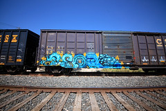 (o texano) Tags: austin bench graffiti texas trains abort freights benching