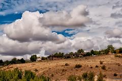 Houses amidst the clouds (fandarwin) Tags: clouds fan darwin panasonic idaho boise autumnal cloudscape equinox foothill gf1 fandarwin