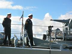 Standing NATO Mine-Countermeasures Group 1 vessels in Riga, Latvia. September 29, 2013 (Vadiroma) Tags: germany uniform ship navy vessel baltic latvia crew riga nato minesweeper dillingen baltikum 2013