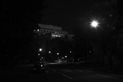 Nippon-Seinenkan (guen-k) Tags: monochrome japan tokyo long exposure sigma 長時間露光 モノクロ 新宿区 東京都 shinjukuku 霞ヶ丘町 kasumigaokacho 日本青年館 dp2merrill nipponseinenkan