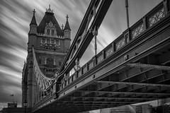 Tower Bridge (Eduardo_Aguirre) Tags: longexposure bridge blackandwhite london monochrome towerbridge europe monotone monochromatic nd bandw ndfilter nd110 bridgeoflondon