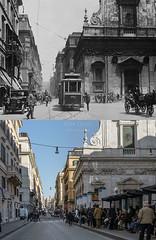 Largo Chigi - http://bit.ly/1G3DZST (Roma Ieri Oggi) Tags: old rome roma foto layers merge 925 rephotography vecchie nuove sovrapposizione largochigi romaierioggi