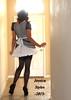 JessicaFrillyMaid (jessicastvyles) Tags: stockings sissy transvestite heels maid bows petticoat frilly backseam