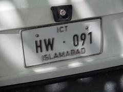 Car plate, Islamabad!