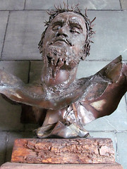 Coventry Cathedral (pefkosmad) Tags: uk england sculpture art modern cathedral head bust coventry anglican warwickshire crucifixion jesuschrist churchofengland christcrucified helenhuntingtonjennings