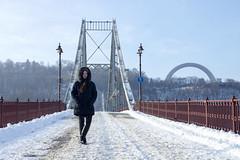 _DSC0212 (Artem_Kotenko) Tags: sony a77 a77v minolta 2485 2485mm kyiv winter autumn sun river bridge park snow cold portrait water walkway