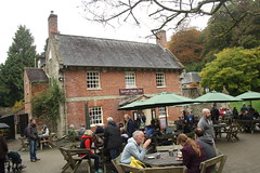 Pub (My photos live here) Tags: stourhead pub public house lunch tables parasols mere wiltshire england canon eos 1000d hoare national trust gardens stately home mansion grass tree stourton