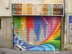 Artiste inconnu(e) : l'atelier des peintres en dcors (Archi & Philou) Tags: atelier shutter rideaumtallique couleur arcenciel paris18 shop closedshop