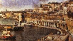 Grand Harbour, Valletta (Thanks a million everyone! -Leigh) Tags: valletta malta painterly textured grandharbour harbour omdem5 mzuikopro1240mm128 leighkermpphotoart