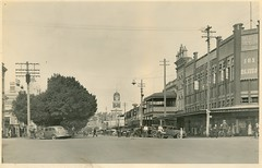 View of Dean Street, Albury (NSW) (State Records NSW) Tags: archives staterecordsnsw newsouthwales blackandwhite albury