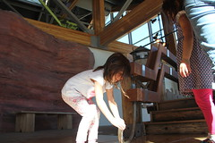 The girls working on a water contraption 1 (Aggiewelshes) Tags: october 2016 lehi utah travel museumofnaturalcuriosity thanksgivingpoint waterworks jovie vivian