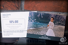 Melle Cloche Flyers (Del Robertson) Tags: i designed flyers took photograph them too chose nice moody blues purples make flyer punch