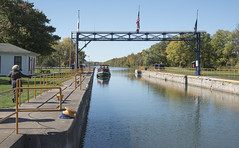 Erie Canal, Boat enters Lock (Mr. History) Tags: eriecanal canal lock erie newyork water