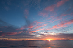 Sunset at Port William (jillyspoon) Tags: sunset wigtownshire scotland machars portwilliam pinkclouds sundown drummore irishsea
