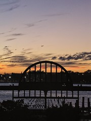 """We are all volcanoes approaching their eruption. ""  Friedrich Nietzsche (yaelefil) Tags: brooklyn nycsunsets nyc williamsburg williamsburgbridge sunsetporn sunset bk ny newyork newyorkcity newyorksunset newyorkcitysunset orangesky bluesky purplesky yellowsky clouds cloudporn bridge river hudsonriver"