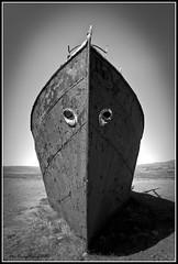 Old Steelship (Der Reisefotograf) Tags: 2011 island oldest steelschip bw schwarz weiss blackwhite monochrome