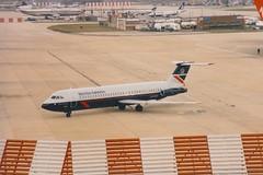 BAC 1-11 G-AVMX London Gatwick 1988 (jonf45 - 2.5 million views-Thank you) Tags: civil aircraft jet plane aeroplane airliner classic british airways bac 111510ed 111 gavmx london gatwick airport