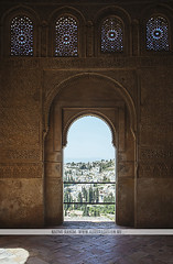 Alhambra Gardens - Granada (Naomi Rahim (thanks for 3 million visits)) Tags: granada andalusia spain espaa europe europa 2016 travelphotography travel nikon nikond7200 architecture wanderlust summer garden jardin alhambra moorish moors unesco arches interior door doorway